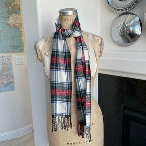 Vintage Christian Dior plaid scarf cashmaire